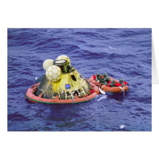 Astronautas de Apolo 11 que vuelven a casa Tarjeta De Felicitación