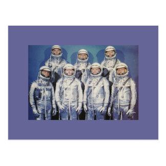 Astronautas de Mercury de la original 7 Tarjeta Postal