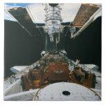 Astronautas del transbordador espacial azulejo cuadrado grande