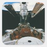 Astronautas del transbordador espacial pegatina cuadrada