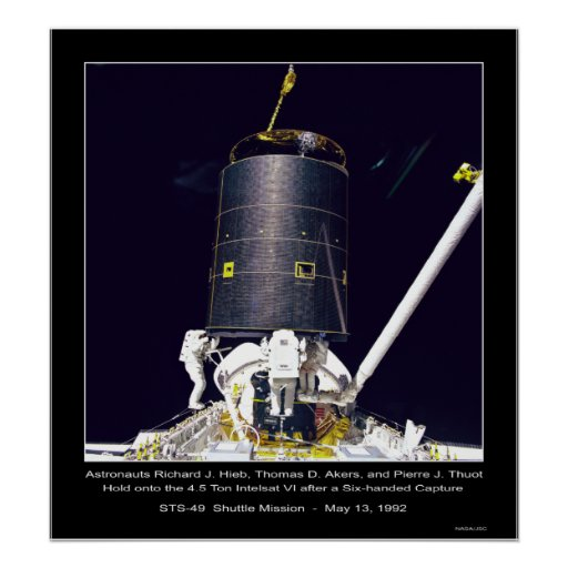 Astronautas Hieb, Akers y Thout Poster