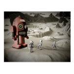 Astronautas Postca diseñado retro del robot y del Postal