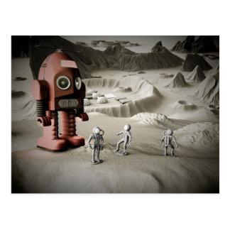 Astronautas Postca diseñado retro del robot y del  Postales