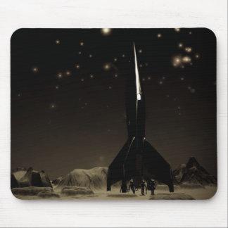 Astronautas y Rocketship Mousepad