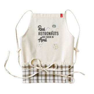 Astronauts are born in April Zg6v6 Zazzle HEART Apron
