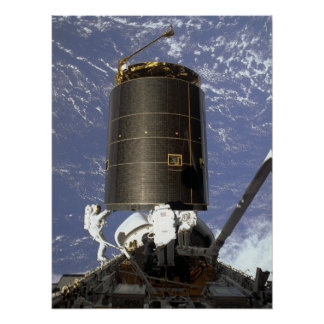 Astronauts capture and repair INTELSAT VI (STS-49) Posters