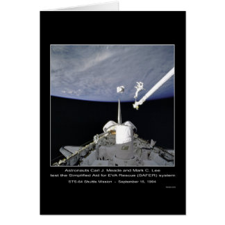 Astronauts Meade and Lee STS-64 Shuttle Mission Card