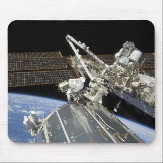 Astronauts perform a series of tasks mouse pads