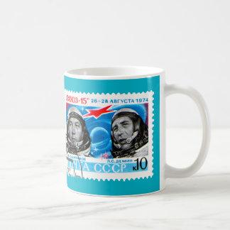 ASTRONAUTS (USSR RETRO SPACE AGE DESIGN) COFFEE MUG