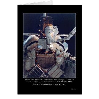 Astronauts van Hoften y NAS de la reparación de Ne Tarjeta De Felicitación