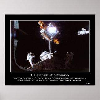 Astronauts Winston E. Scott and Ta... Poster
