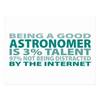 Astronomer 3% Talent Postcard