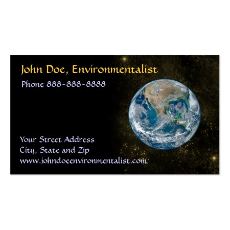 Planet Earth Astronomer Business Cards