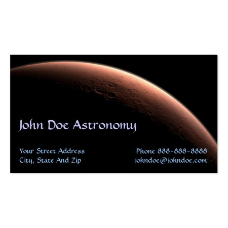 Red Planet Astronomy Business Cards