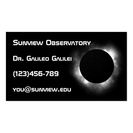 Astronomer business card template
