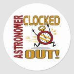 Astronomer Clocked Out Sticker