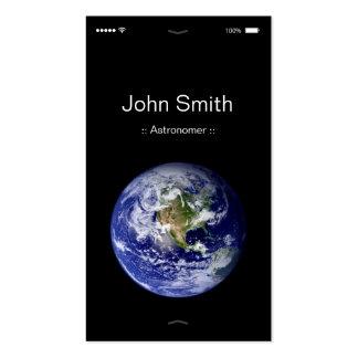 Astronomer - iPhone iOS Customizable Flat UI Style Business Card
