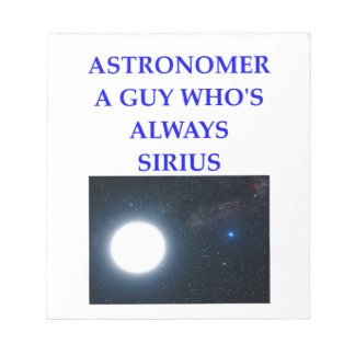 ASTRONOMER NOTEPAD