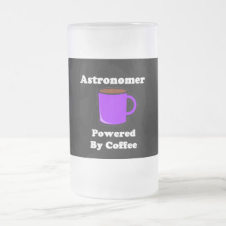 """Astronomer"" Powered by Coffee Frosted Glass Beer Mug"