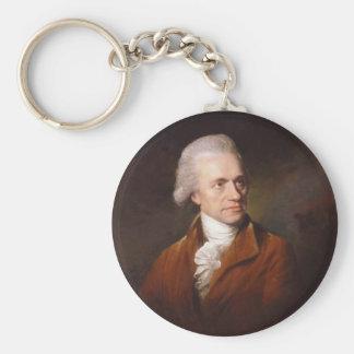 Astronomer Sir Frederick William Herschel Portrait Basic Round Button Keychain