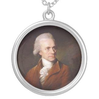 Astronomer Sir Frederick William Herschel Portrait Round Pendant Necklace