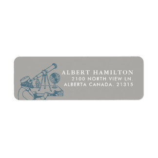 Astronomer Vintage Personalized Label