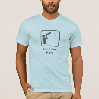 Astronomer with Telescope (Grey Logo) -- Customize T-Shirt