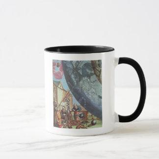 Astronomers looking through a telescope mug