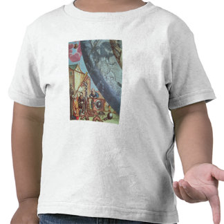 Astronomers looking through a telescope t-shirt