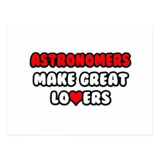 Astronomers Make Great Lovers Postcard