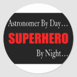 Astronomers Round Stickers