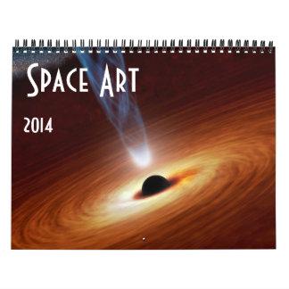 Astronomía 2014 del calendario del arte del