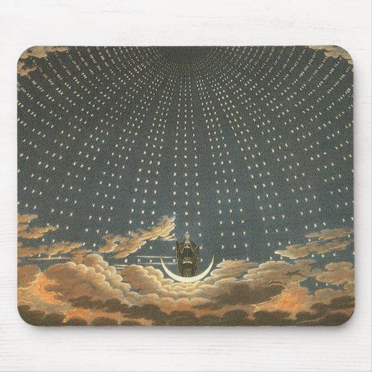 Astronomía celestial del vintage, reina de la alfombrillas de ratón