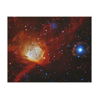 Astronomía de espacio de la estrella del pulsar SX Impresiones De Lienzo