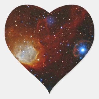 Astronomía de espacio de la estrella del pulsar SX Calcomania Corazon