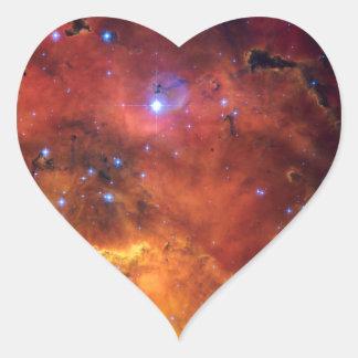 Astronomía de espacio de la NASA de la nebulosa NG Pegatina De Corazon