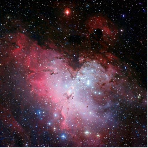 Astronomía de espacio de la nebulosa de Eagle Esculturas Fotograficas