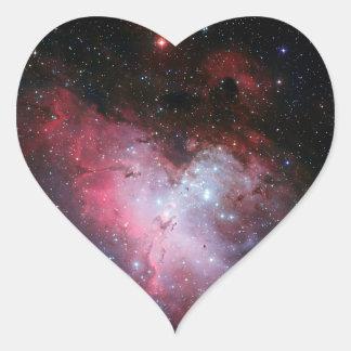 Astronomía de espacio de la nebulosa de Eagle Pegatina De Corazón