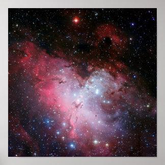 Astronomía de espacio de la nebulosa de Eagle Póster