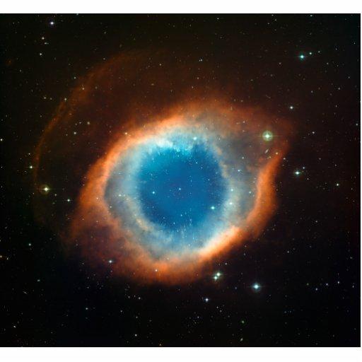 Astronomía de espacio de la nebulosa de la hélice escultura fotografica
