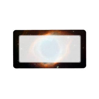 Astronomía de espacio de la nebulosa de la hélice etiqueta de dirección