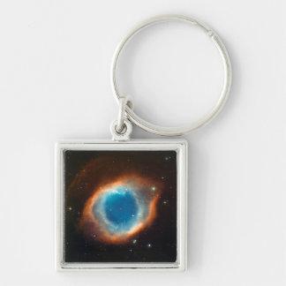 Astronomía de espacio de la nebulosa de la hélice llavero personalizado