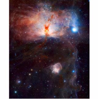 Astronomía de espacio de la nebulosa de la llama esculturas fotograficas