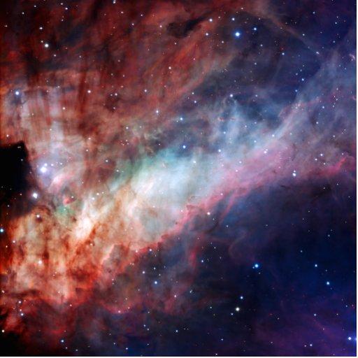 Astronomía de espacio de la nebulosa de Omega Escultura Fotográfica