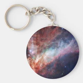 Astronomía de espacio de la nebulosa de Omega Llavero Personalizado