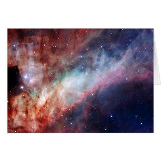 Astronomía de espacio de la nebulosa de Omega Tarjeta De Felicitación
