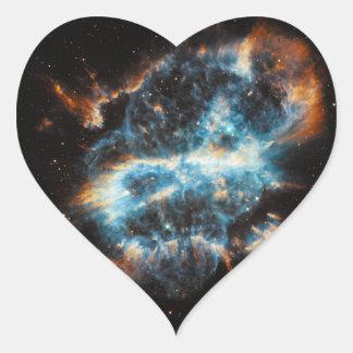 Astronomía de espacio de la nebulosa NGC 5189 Colcomanias De Corazon