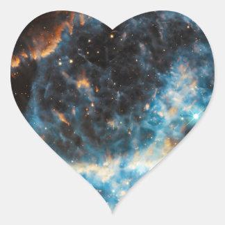 Astronomía de espacio de la nebulosa NGC 5189 Calcomanías De Corazones Personalizadas