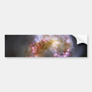 Astronomía de espacio de las galaxias de las anten pegatina para auto