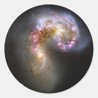Astronomía de espacio de las galaxias de las pegatina redonda